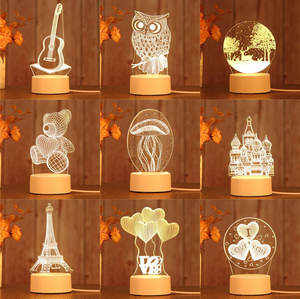 Led-Lamp Night-Lights Home-Decorative-Light Creative 3d Illusion 3d Led No for Novelty
