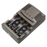 Tüketici Elektroniği'ten Pil Aksesuarları'de FFYY hızlı şarj 4 yuvaları ile Led ekran akıllı akıllı pil şarj aleti Aa/Aaa 9V Nicd Nimh şarj edilebilir piller (U
