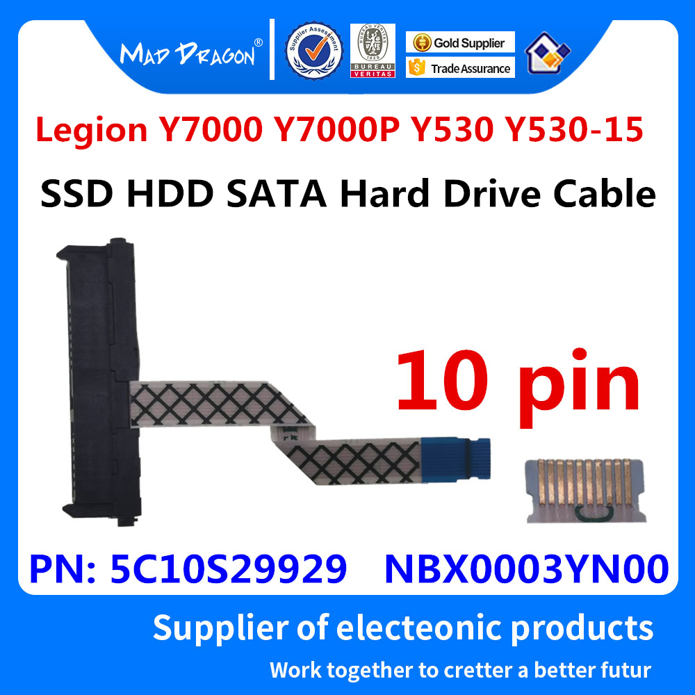 New original Laptop SSD SATA Hard Drive Cable HDD Connector For Lenovo Legion Y7000 Y7000P Y530 Y530-15 5C10S29929  NBX0003YN00