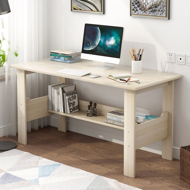 "40"" Computer Desk with Bookshelf 5"