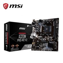 MSI A320M PRO M2 V2 האם amd שקע am4 ddr4 זיכרון אילים M.2 SATAIII ssd HDMI + VGA + DVI PCI E 3.0X16 mainboard לשולחן עבודה