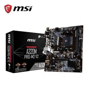 Image 1 - MSI A320M PRO M2 V2 האם amd שקע am4 ddr4 זיכרון אילים M.2 SATAIII ssd HDMI + VGA + DVI PCI E 3.0X16 mainboard לשולחן עבודה