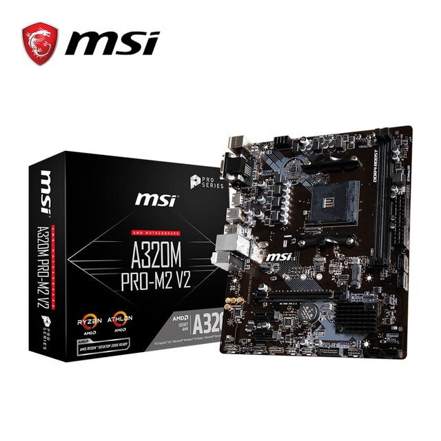 MSI A320M PRO M2 V2 płyta główna amd gniazdo am4 ddr4 pamięci ram M.2 SATAIII ssd HDMI + VGA + DVI PCI E 3.0X16 płyta główna na pulpit