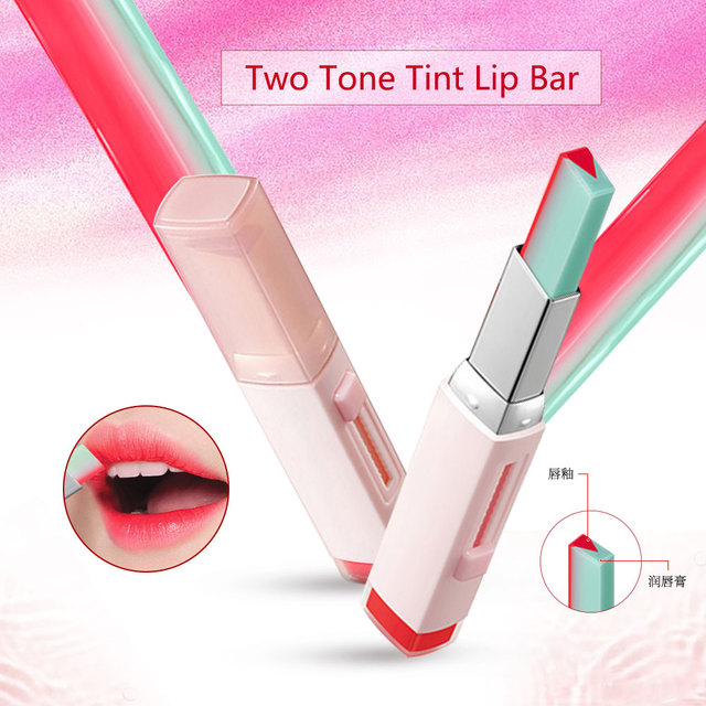 Korean Fashion Bite Lipstick V Cutting Two Tone Tint Silky Long Lasting Moisturzing Nourishing Lipstick Balm Lip Cosmetic Makeup 1