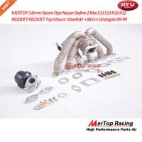 MTP RACING 3mm thick steam pipe T3 Flange Top Mount R32 R33 RB20DET RB20 RB25 RB25DET Manifold+ Wastegate 38mm