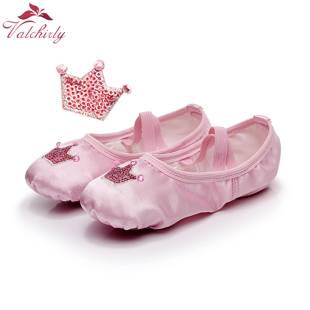 Royal Ballet Dance Shoes Girl Professional Dancing Skill Practice Use Satin Surface Cowhide Leather Bottom