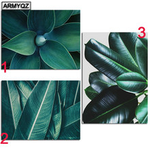 Green Tropical Plant Leaves Full Drill Square Round DIY 5D Diamond Painting cross stitch kit mosaic embroidery Nordic Posters(China)