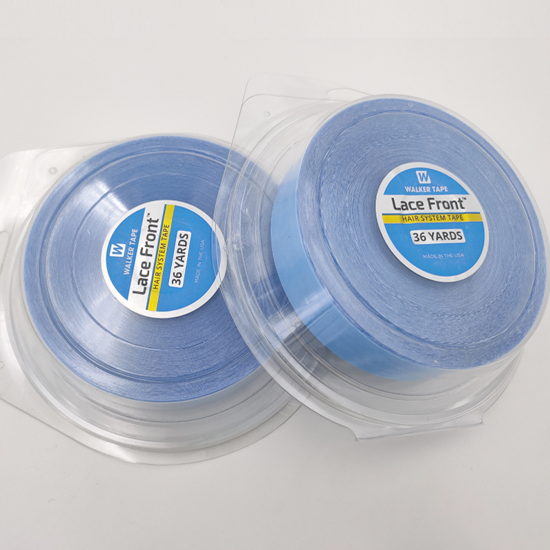 36 YardsX2.54CM Super DoubleSided Adhesives Blue Lace Front Support Tape Length33M For Tape Hair/Skin Weft Hair/Lace Wigs/Toupee