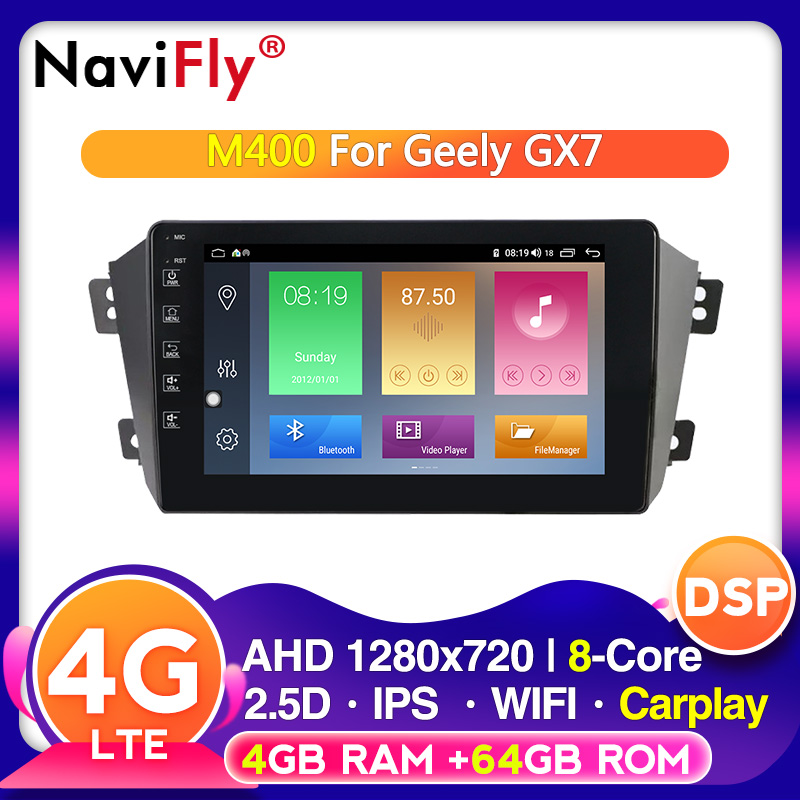 Android10 4G RAM 64G ROM Car radio gps cassette for <font><b>Geely</b></font> <font><b>Emgrand</b></font> <font><b>X7</b></font> 1 GX7 EX7 2011 - <font><b>2019</b></font> with IPS DSP wifi 4G LTE image