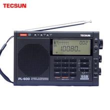 Tecsun receptor de rádio estéreo sincronizado, rádio fm/mw/PL-600/pll de banda inteira SW-SSB (4xaa) pl600 rádio portátil