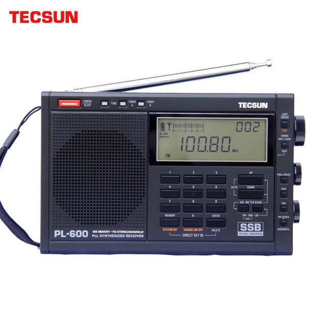 TECSUN PL 600 راديو رقمي ضبط كامل الفرقة FM/MW/SW SSB/PLL توليفها استقبال راديو ستيريو (4xAA) PL600 راديو محمول