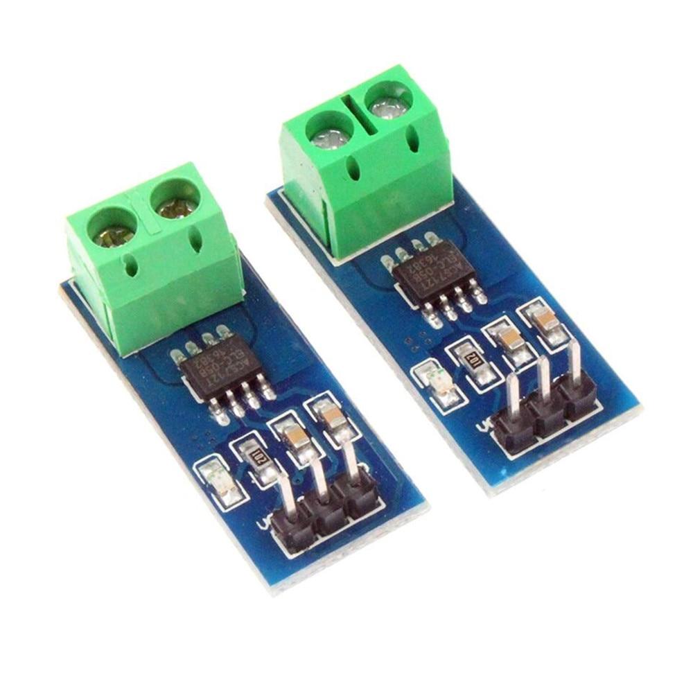 Taidacent 5V Linear Acs712elc AC DC Leakage Hall Effect Split Core Current Transformer Module Electric Current Sensor Acs712 5A