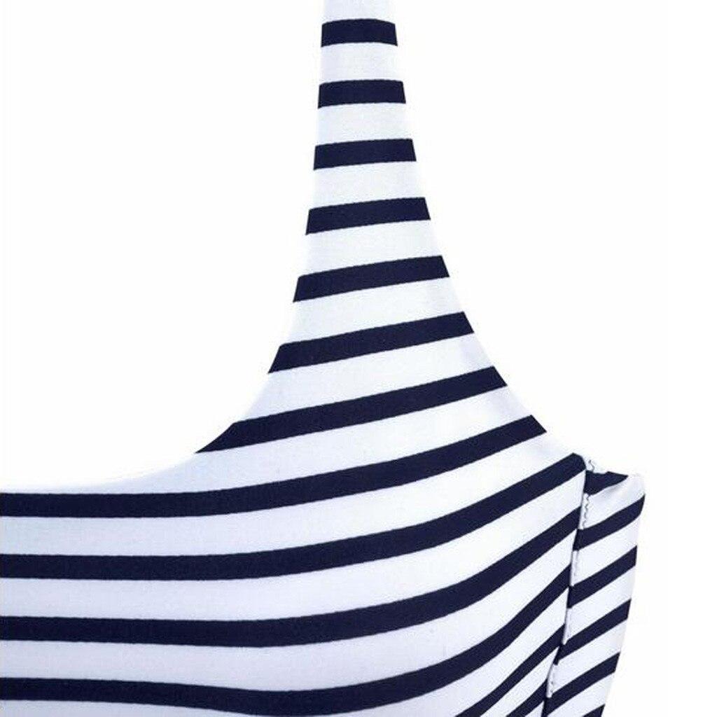 Сексуальный с открытыми плечами бикини набор для женщин Летний Полосатый Танкини пляжный купальник из двух частей 2020 женский спортивный ку... 19