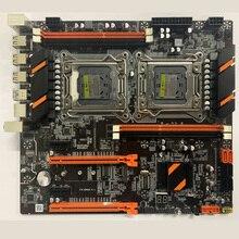 X79 placa base de CPU dual LGA 2011 4*DDR3 REG ECC USB3.0 sta3 PCI-E 3