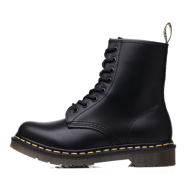 Winter Unisex Couple Ankle Boots Men Shoes Woman New Genuine Leather Boots Casual Lace Up Ladies Fashion Shoes Black Botas Mujer