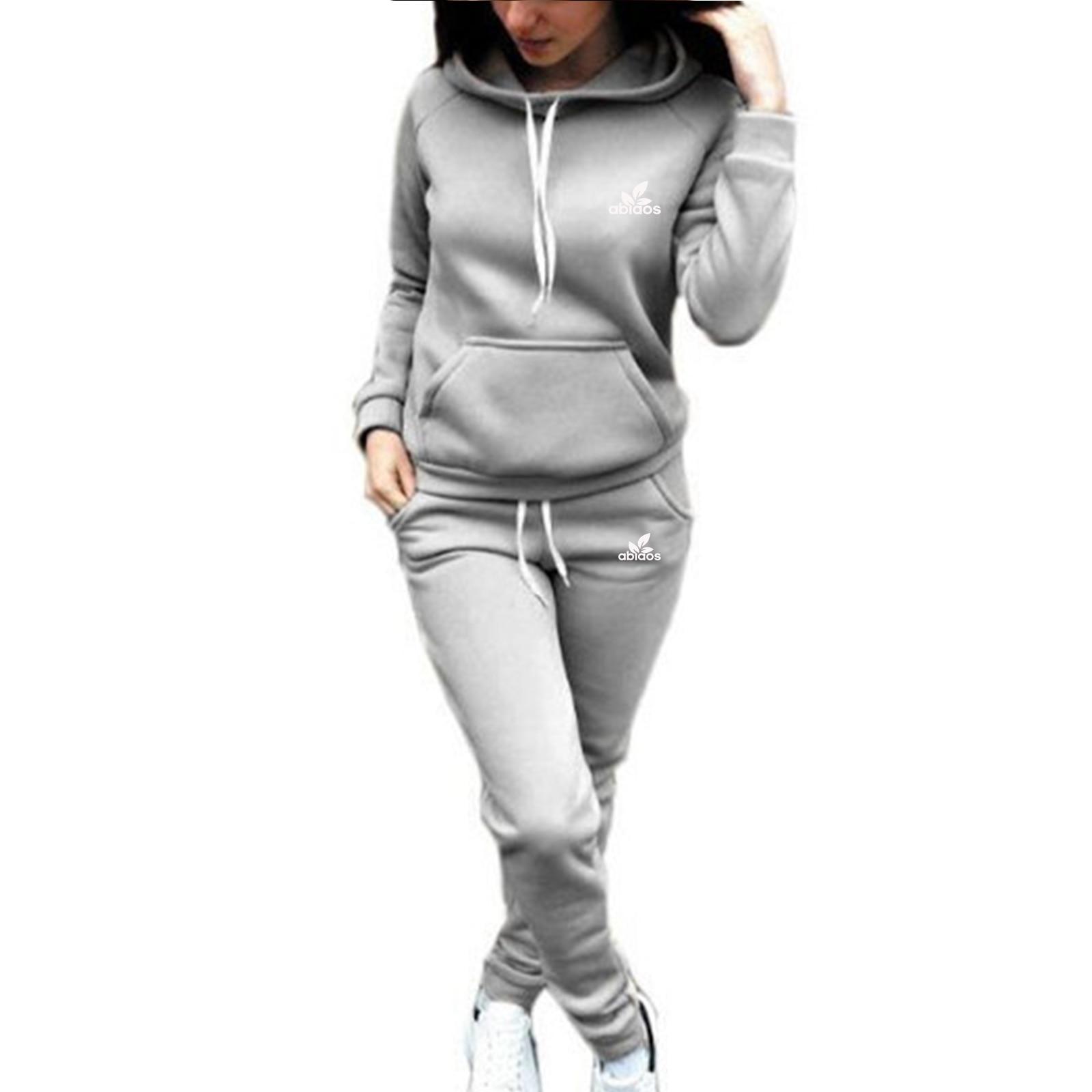 Top Ladie Sportswear Sports Pants Set Casual Hoodie Fleece Sweatshirt Women Jacket Sports Pants Harajuku Clothes
