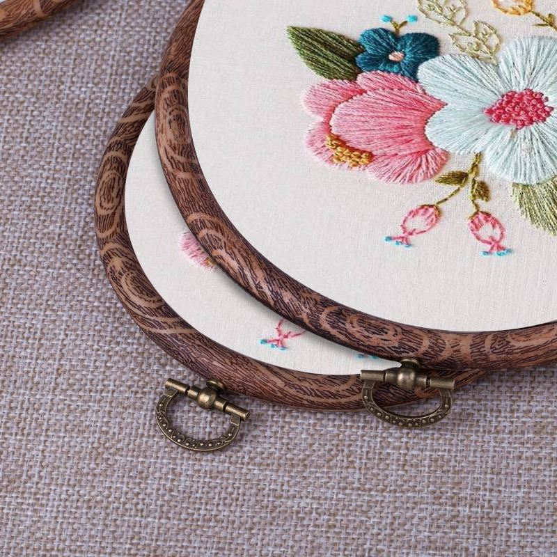 Embroidery Circle Sewing Kit Frame Craft Embroidery Hoop Photo Frame Cross Stitch Hoop Ring For Art Craft Sewing Hang Decor