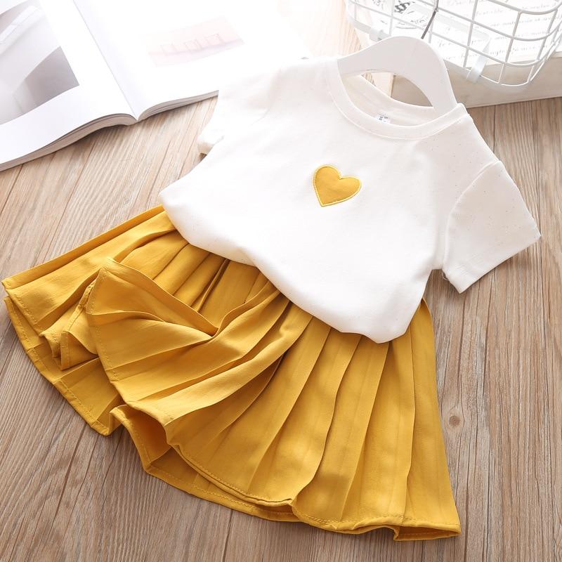 Hebc0412cf1c940fda64586d243f21e7d7 Humor Bear Girls Clothing Set 2020 Korean Summer New Ice Cream Bow T-shirt+Pants Kids Suit Toddler Baby Children's Clothes