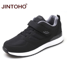 JINTOHO חורף עור סניקרס אופנה יוניסקס עור נעליים לנשימה גברים נעלי ספורט מזדמנים זכר נעלי גברים חורף שלג נעליים