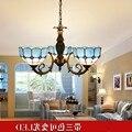 Средиземноморский подвесной светильник с тремя головками  потолочный светильник  лампа для столовой  спальня для учебы  светильник  просто...
