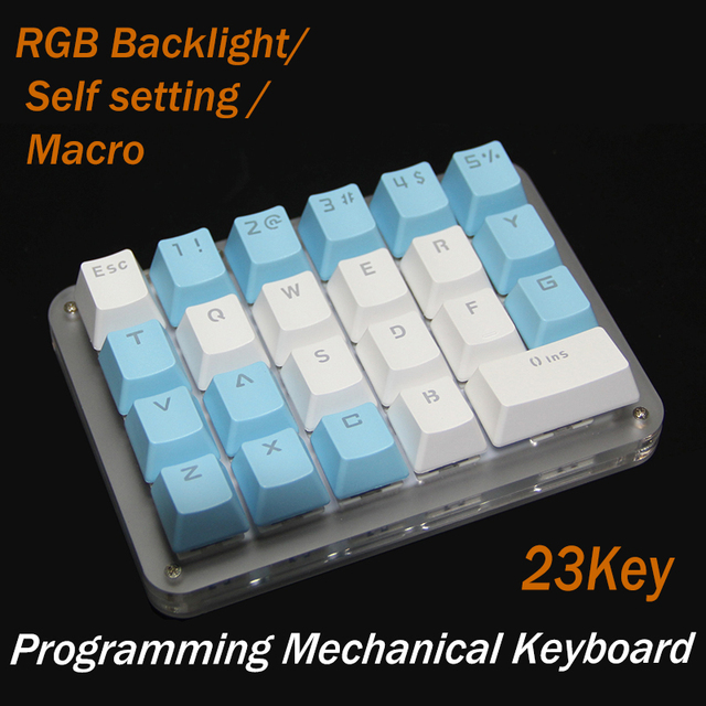 Macro Keyboard New Gateron / Cherry Switch Mechanical Keypad 23Keys Programming Programmable OSU Gamming Shortcut for WIN 7 8 1