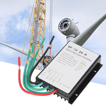 New Wind Turbine Generator 12V/24V 300/600W Charge Controller Regulator Waterproof Automatic Identified Brake Regulator Charging