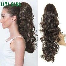 Лиси девушка Для женщин кудрявый хватать длинные хвощ чёрный; коричневый синтетический волнистые волосы,