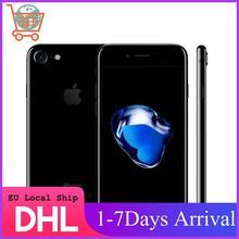 Оригинальный б/у Смартфон Apple iPhone 7 смартфоны, 32/128 ГБ/256 ГБ, IOS, стандартный, 4G LTE телефон, сканер отпечатка пальца, камера 12 МП, телефон Apple