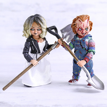 NECA Bride of Chucky Horror Dolls Chucky & Tiffany Ultimate Dexlue PVC Action Figure Model Toys