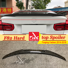 For BMW F82 4 door Hard top Tail Spoiler Wing M4 Style Forging Carbon Fiber 4 series 420i 425i 430 435i Trunk Spoiler Wing 14-18 цена