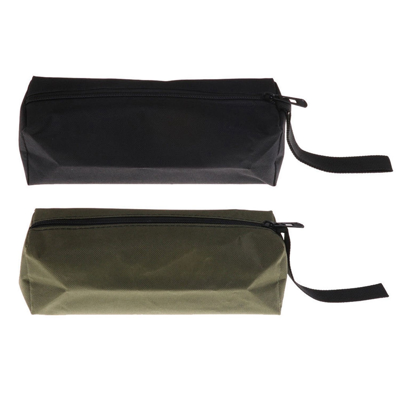 2Pcs Oxford Canvas Waterproof Storage Hand Tool Bag Screws Nails Drill Bit Metal Parts Fishing Travel Makeup Organizer Pouch Bag