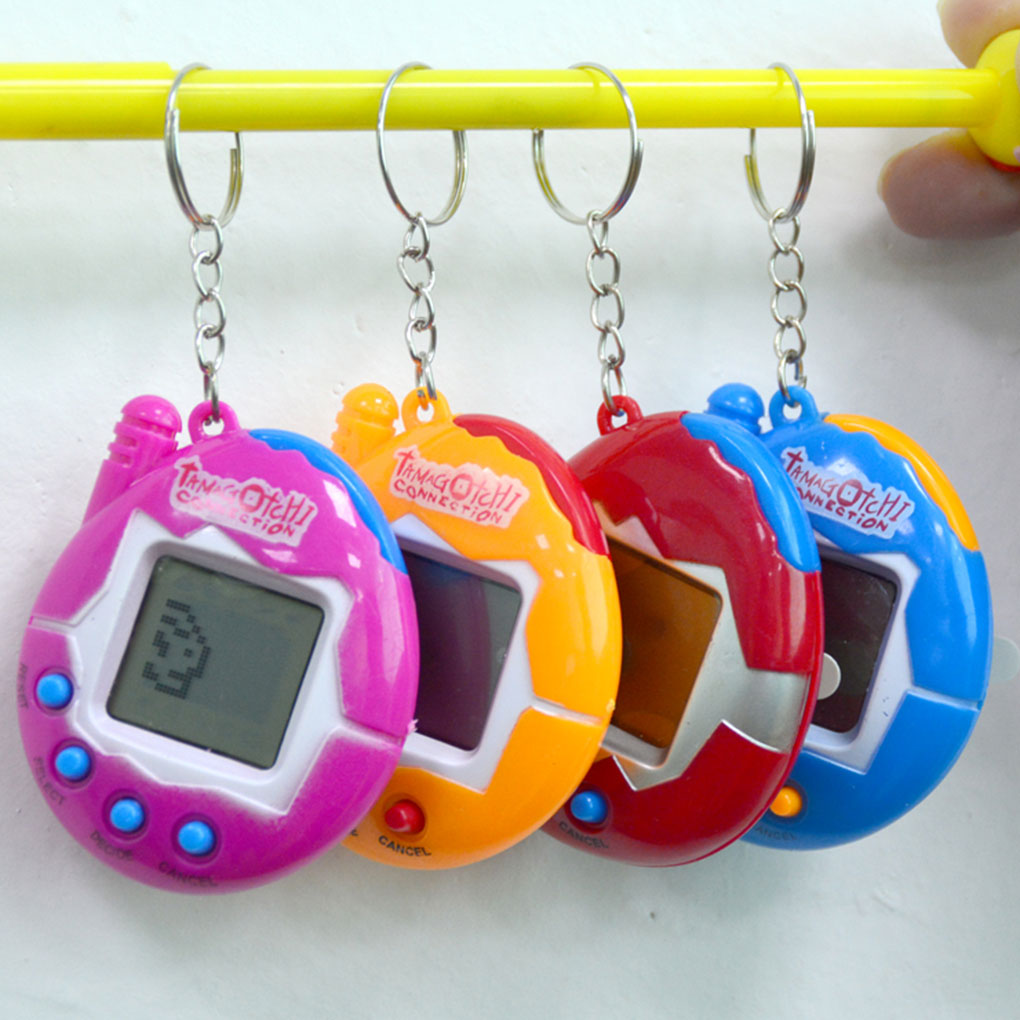 Multi-colors Funny Nostalgic Virtual Cyber Pet Toy Portable Pocket Electronic Pets Keychains Toys