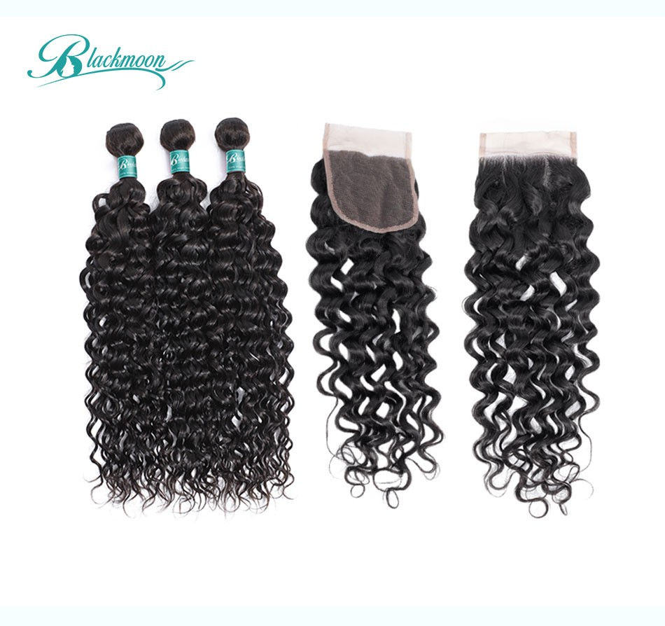 water wave hair weave 3 4 bundles with closure--3+4_02