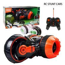 Радиоуправляемая Игрушечная машина-трюк для двойного встряхивания, высокоскоростной светодиодный 360 градусов переворачивающийся на роликах, модель радиоуправляемого автомобиля 3 Whee светодиодный гоночный автомобиль-трюк