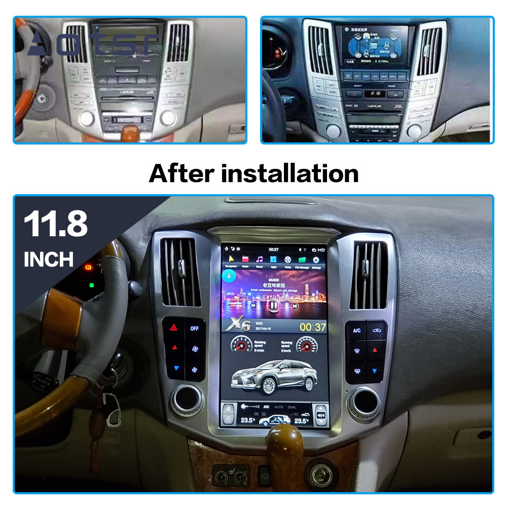 Android 9 Tesla Style Car DVD Player GPS Navigation For Lexus RX300 RX330 RX400 2004-2007 Car Radio Player Auto Stereo Head Unit