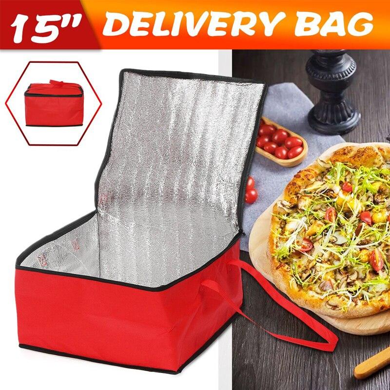 Dreamburgh sac de livraison de Pizza 15 | Support de rangement thermique isolé sac à déjeuner pique-nique pour voiture, sac de glace, sac de réfrigérateur