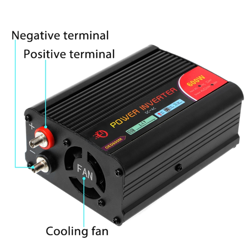 300W/400W/500W/600W Power Inverter Converter DC 12V to 220V AC Cars Inverter with Car Adapter 22