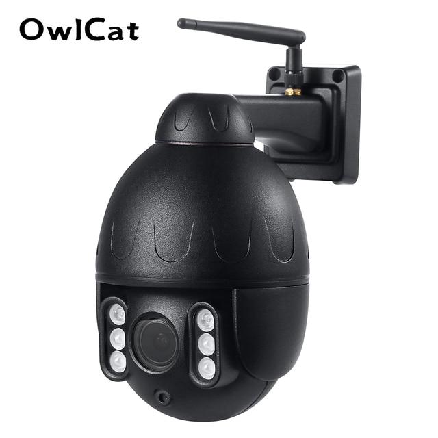 OwlCat kablosuz sokak Dome IP kamera Wifi 5MP 2MP siyah gözetleme tur oto Cruise mikrofon hoparlör ile konuşma 128GB kart