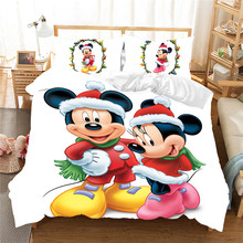 Mickey Minnie Christmas Bedding Set Duvet Cover Children Bed Queen King Size Nightmare Before Gift Luxury