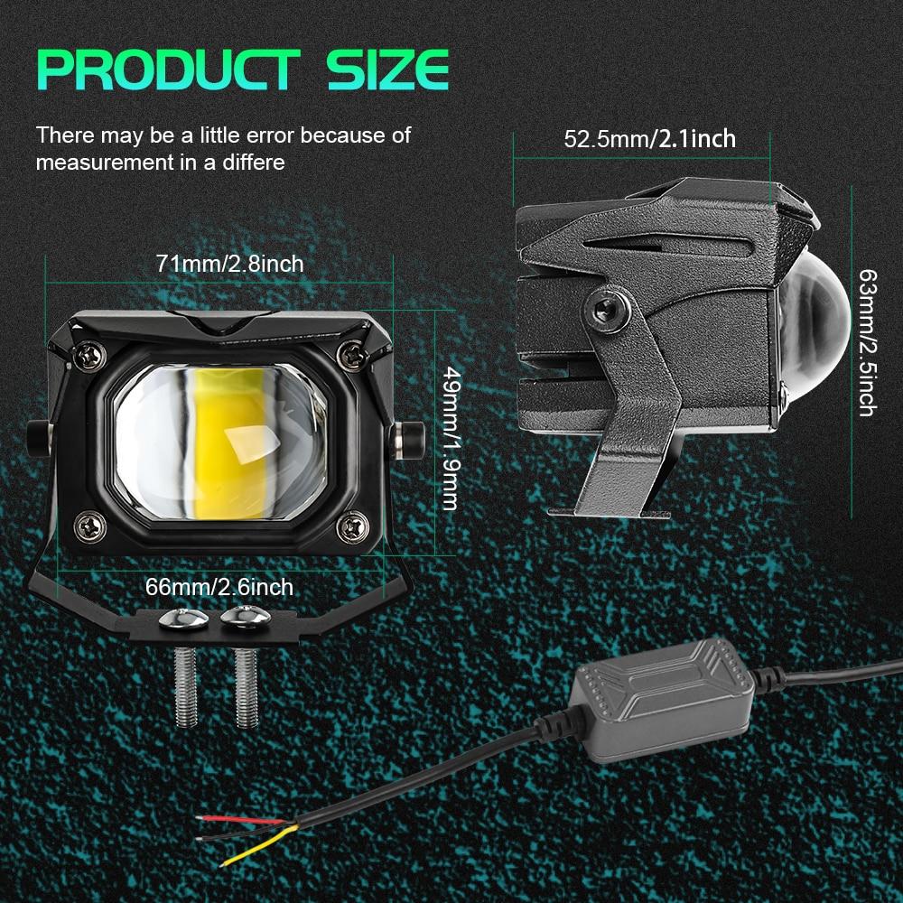 """CO светильник 12D 3 """"100 Вт светодиодный фара мотоцикла светильник 6000K 3000K светодиодный рабочий светильник противотуманная фара 12000LM для мотороллеров ATV Car Truck 12В 24В"""