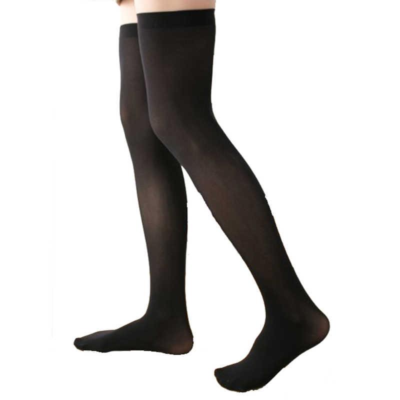 Women Lady Long Socks Soft Thigh High Stocking Girls Stripes Pantyhose Xmas Gift
