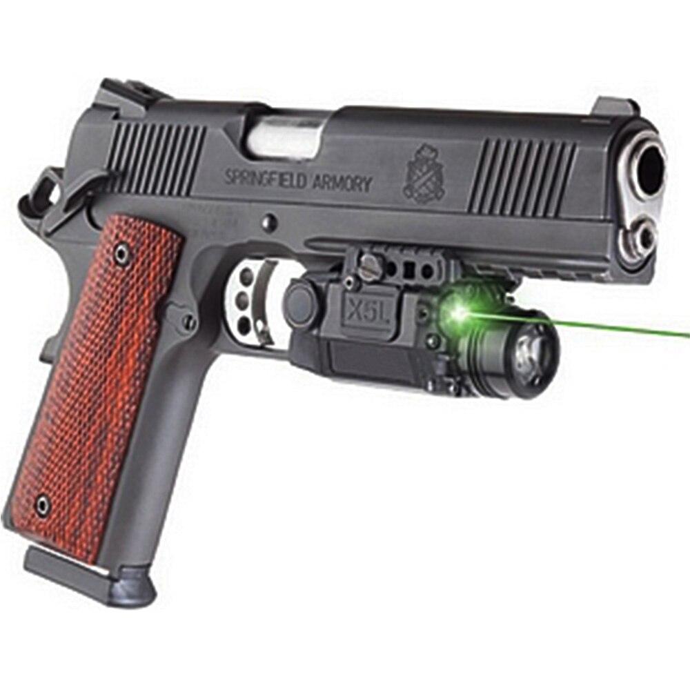 caca verde visao a laser com tactical gun luz picatinny railed glock pistola airsoft laser lanterna