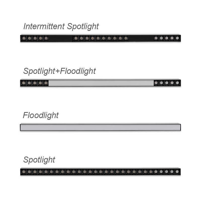 SCON AC 110-240V 80CM cips CCT 3000K 4000K doğal ışıkları 20W 30W LED çalışma çubuğu ışıkları ofis hat lambası