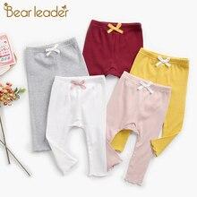 Leggings Pants Toddler Baby-Girls Trousers Kids Children Bear Spring Casual Leader Bowtie