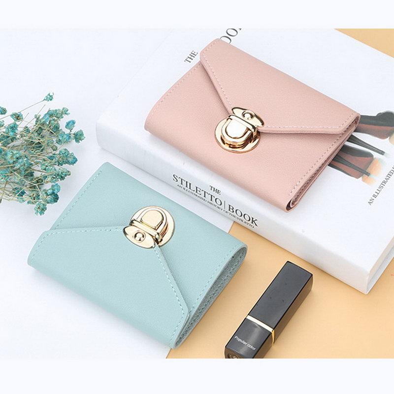 Hot Selling Trifold PU Leather Wallet For Women Fashion Credit Card Holder Short Purse -B5
