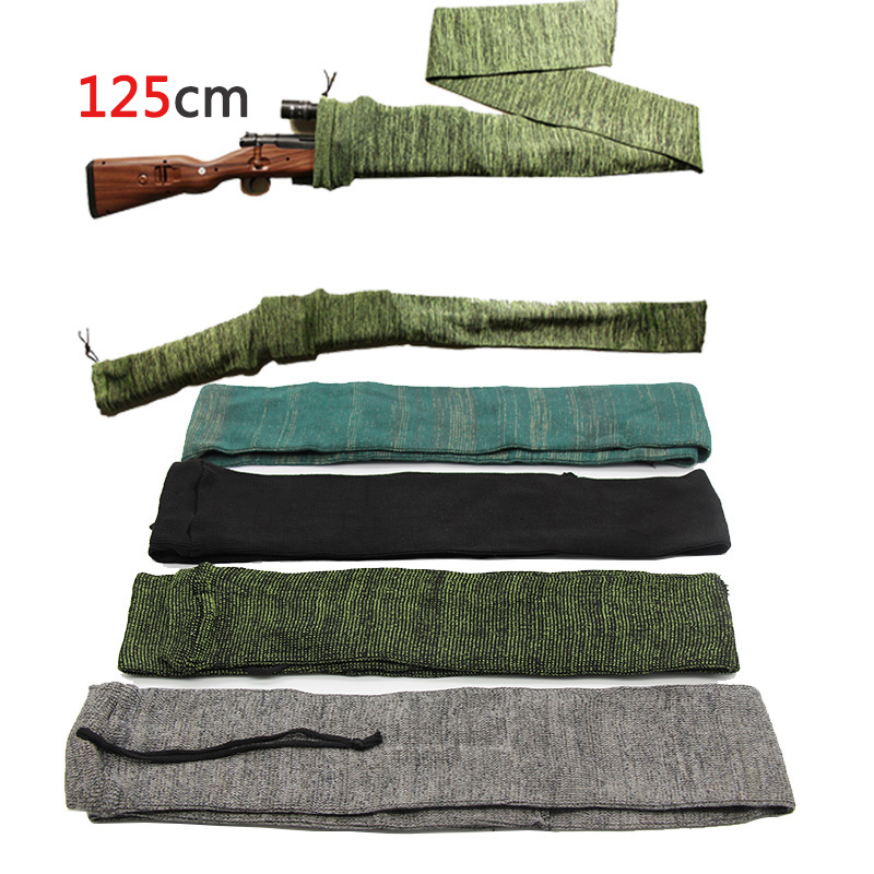 125 Cm Knitting Gun Sock Rifle Sock Airsoft Protective Cover Long Gun Bag Case Dustproof Outdoor Hunting Holster