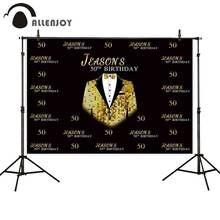 Allenjoy шаг и повтор фотостудия фон Золотой блестящий деловой
