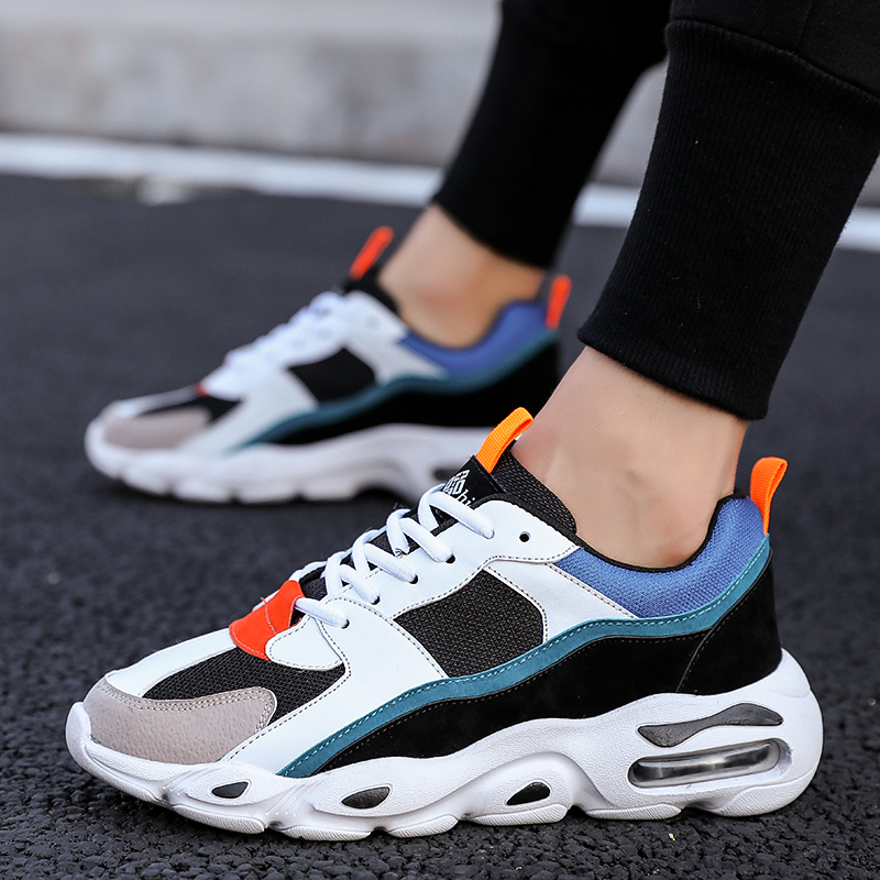 Mix Color Dad Shoes Butterfly Style Man Casual Shoes Damping Air Cushion Trainers Men Breathable High Quality Platform Sneakers