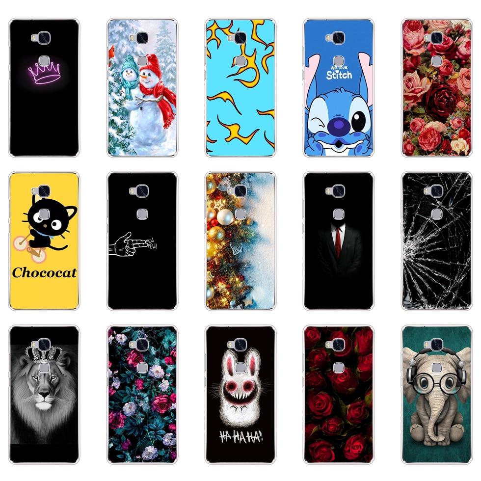 "Back Case For Huawei Honor 5X X5 GR5 kiw-l21 5.5"" Phone TPU Cover For Huawei Honor 5 X 5x KIW-L21 Silicone Cases Cover Shells"