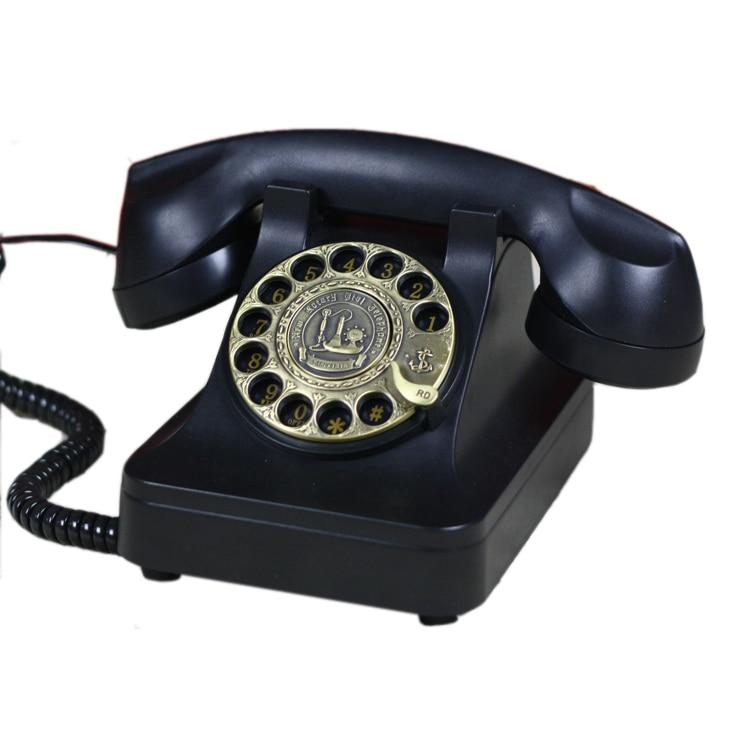 Vintage Swivel Plate Rotary Dial retro Telephone revolve Telephones  Landline Phone For Office Home Hotel mechanical ring|landline phone|telephones  landline phonestelephone landline - AliExpress